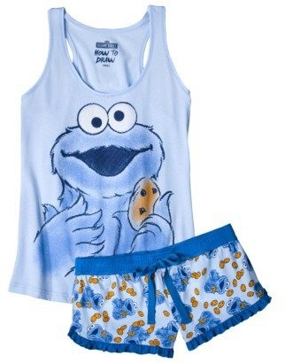 Sesame Street Juniors Tank & Short Set - Cookie Monster