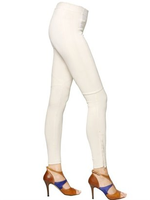 David Lerner Coated Techno Zip Leggings