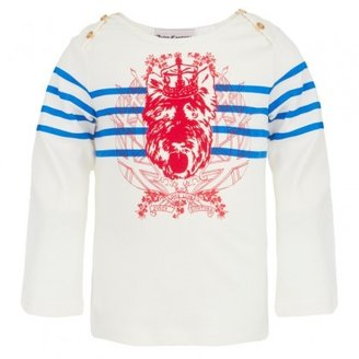 Juicy Couture Candy Blue Stripe Tee