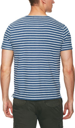Heather Striped Henley With Pocket