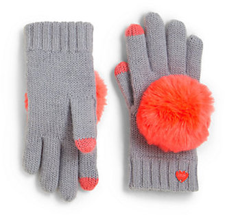 Juicy Couture Girl's Pom-Pom Texting Gloves