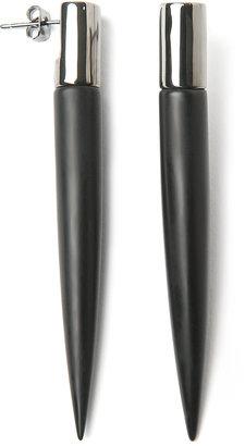 Eddie Borgo Gemstone Long Spike Stud Earrings