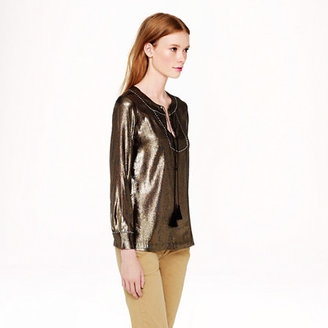 J.Crew Silk metallic tunic