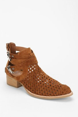 Jeffrey Campbell Everly Woven Suede Cutout Boot