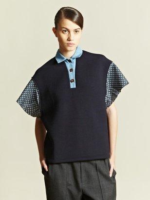 Kolor Women's Contrast Panel Polo Shirt