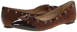 French Sole Kimberly (Brown Patent/Suede) - Footwear
