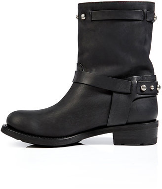 Ralph Lauren Leather Studded Half Boots in Black