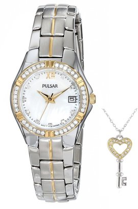 Pulsar Women's PH7244 Key Necklace with Japanese Quartz Watch Set