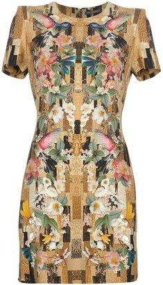 Alexander McQueen hummingbird slim fit dress