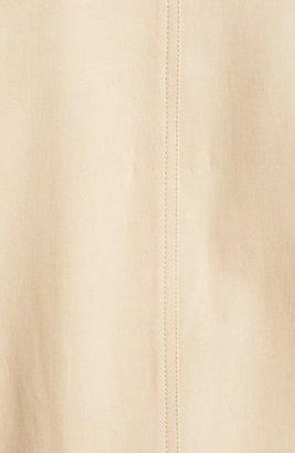 Jason Wu Cropped Leather Trim Toggle Coat