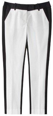 Mossimo Petites Ankle Pants - White/Black