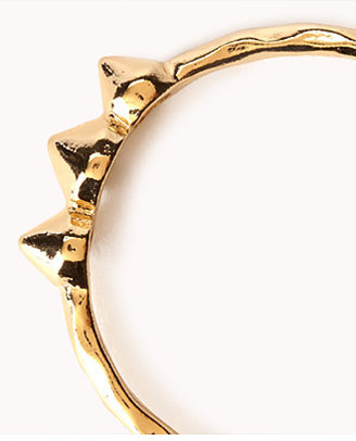 Forever 21 Hammered Metal Spike Hoops