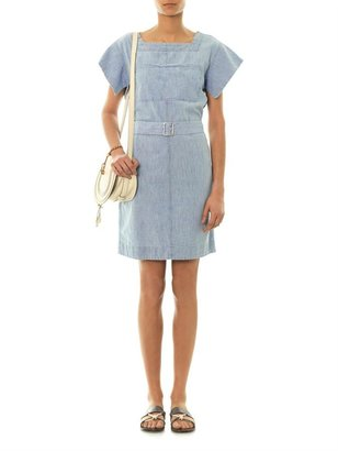 See by Chloe Belted chambray cotton dress