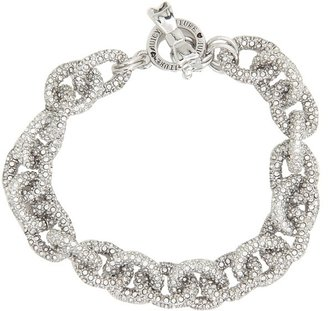 Juicy Couture Elegant Essentials - Pave Link Chain Bracelet (Silver) - Jewelry