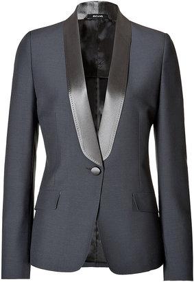 Maison Margiela Wool-Mohair Tuxedo Blazer with Satin Lapel