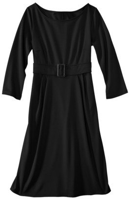 Mossimo Women's 3/4 Sleeve with Buckle Waist Ponte Dress - Assorted Colors