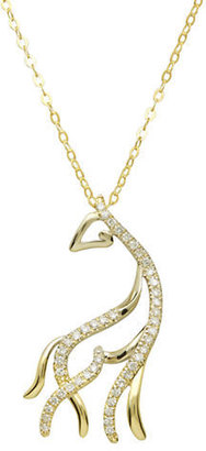 Lord & Taylor 14Kt. Yellow Gold & Diamond Horse Pendant Necklace