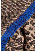 Marc by Marc Jacobs Wool Leopard Scarf in Chicory Brown Multi