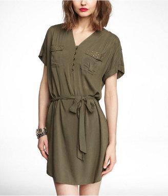 Express Studded Pocket Shirtdress
