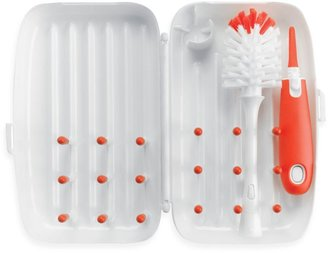 OXO Tot® On-the-Go Drying Rack with Bottle Brush in Orange