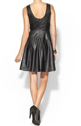 Juicy Couture Ark & Co. Perforated Vegan Leather Dress