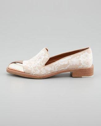 Rachel Roy Cap-Toe Lace Smoking Loafer