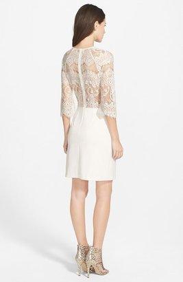 BB Dakota Lace & Ponte Sheath Dress