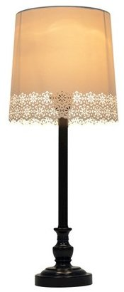 Room Essentials Punched Scallop Stick Lamp - Black