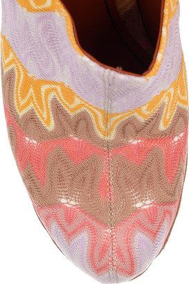 Missoni Crochet-knit wooden mules