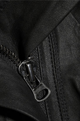 Vince Hooded suede jacket