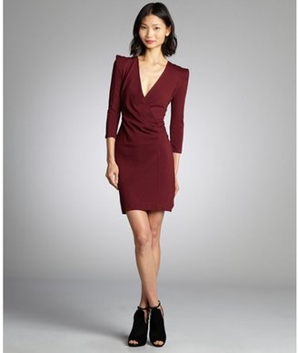 French Connection shiraz deep v-neck faux wrap long sleeve 'Sweetheart' stretch dress