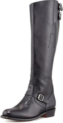 Frye Dorado Polished Leather Riding Boot, Black