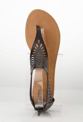 Forever 21 Boho Cutout Thong Sandals