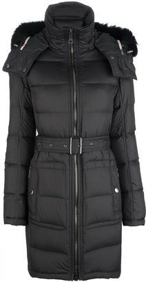 Burberry belted padded coat