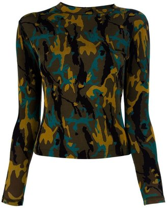 Jean Paul Gaultier Vintage camouflage top