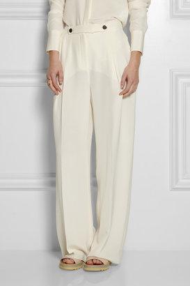 Valentino Pleated silk-crepe wide-leg pants