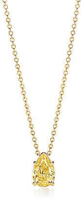 Tiffany & Co. Pear-shaped Yellow Diamond Pendant