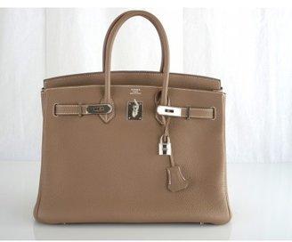 Hermes pristine (PR Etoupe Togo 35cm Birkin Bag
