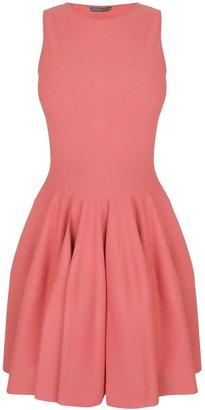 Alexander McQueen Coral Pink Circle Mini-Dress