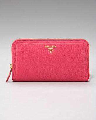 Prada Vit Daino Zip-Around Wallet
