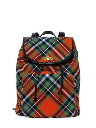 Vivienne Westwood Winter Tartan Fabric Backpack