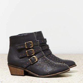 American Eagle AEO Studded Buckled Bootie