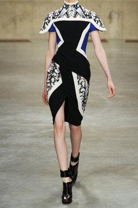 Peter Pilotto Farah paneled crepe dress