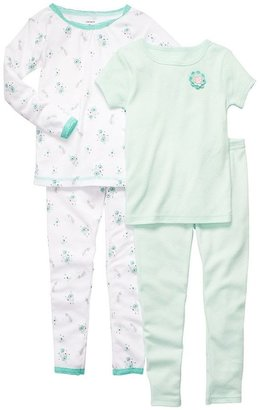 Carter's floral & dot pajama set - baby