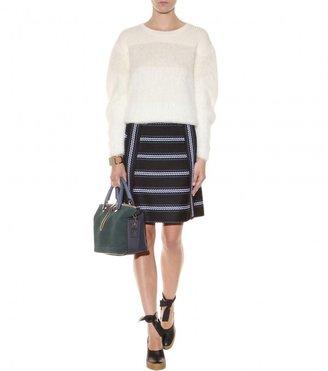 Chloé Striped woven skirt
