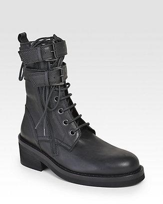 Ann Demeulemeester Ankle Wrap Combat Boots