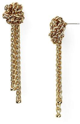 Lauren Ralph Lauren Drop Earrings - Knot Braided Chain Earrings