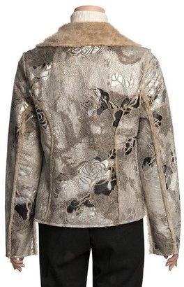 True Grit Embossed Vintage Rose Jacket - Shawl Collar (For Women)