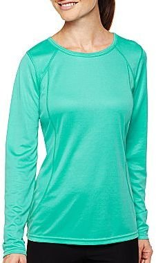 JCPenney XersionTM Long-Sleeve Mesh Tee