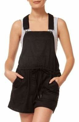 Dex Drawcord Waist Short Overalls